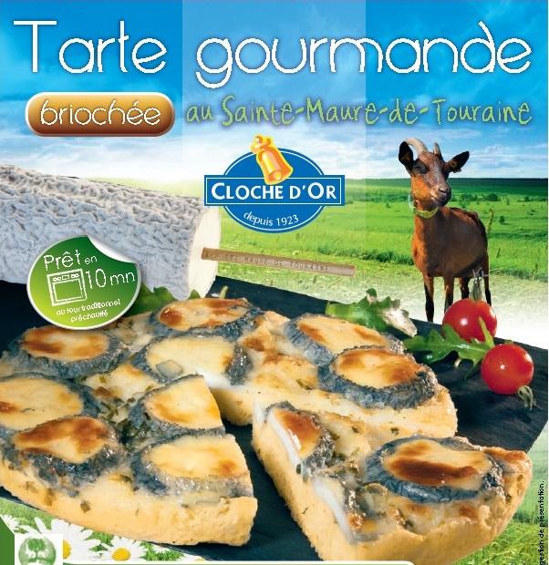 Découvrez la tarte gourmande briochée au sainte maure de Touraine cloche d'or !